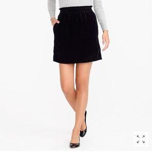 Velvet Sidewalk Mini Skirt JCrew